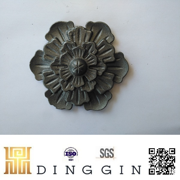 Ornamental Wrought Iron Rose Rosettes For Garden Fencing