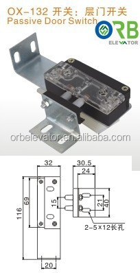 Elevator door contact switch
