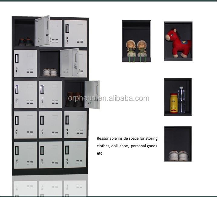 Digital Lock Locker 15 Compartment Steel Locker Steam Closet For Clothes,  Closet Clothes Cabinet