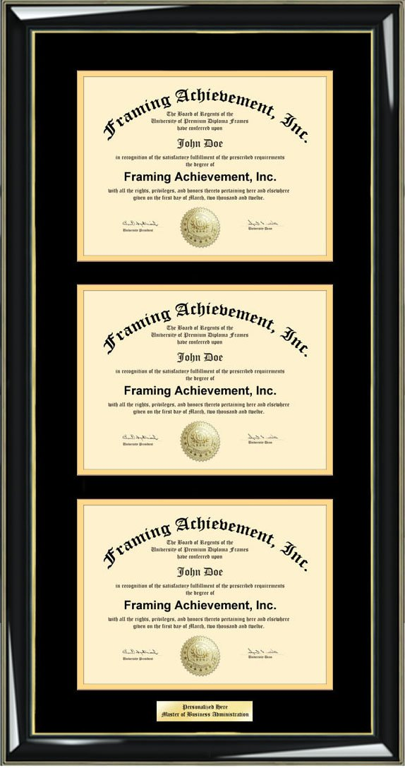 Buy Horizontal Dual Diploma Frame Double University Degree Framing ...