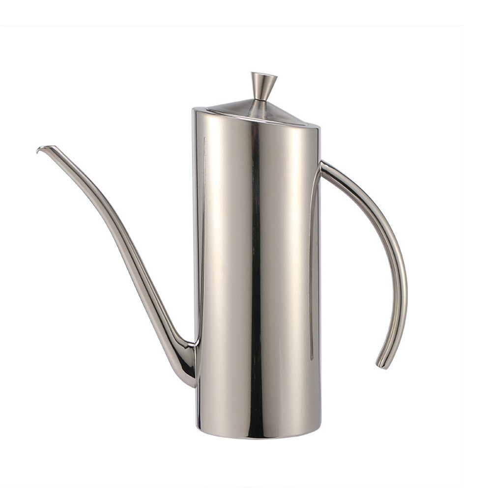 304-Stainless Steel Vinegar Bottles Olive Oil Can Dispenser Olive Oil Bottle With Drip-Free Spout 700ML Long Mouth Leak Proof Pot Vinegar Container Creative Kitchen Products