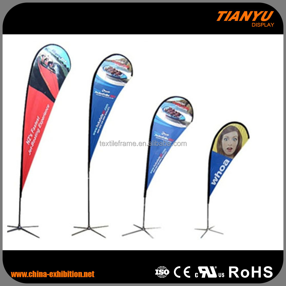 Professional Factory Supply Custom Printed Logo Promotion Teardrop Flag Pole