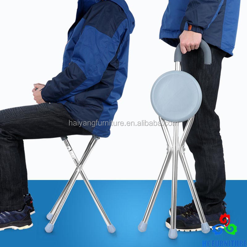 Metal folding chairs and walking stick for old people wholesale
