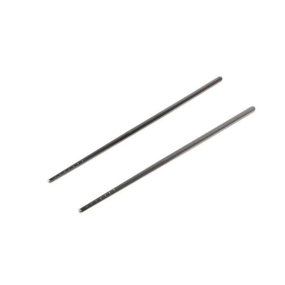 TOOGOO(R) Thread Stylish Non-slip Design Stainless Steel Chopsticks silver