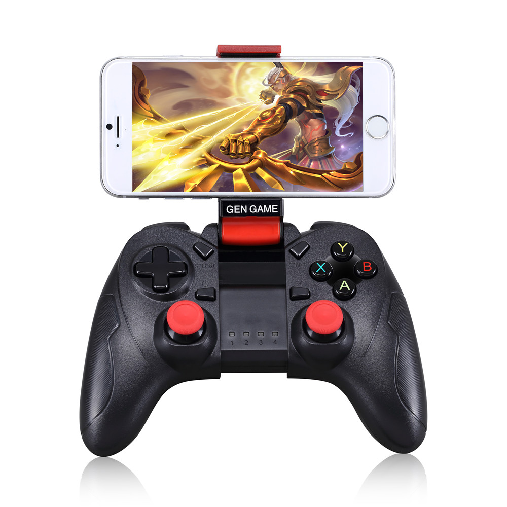 Gen Game S6 mobile phone joystick for IOS android joystick S6 wireless  gamepad compatible with Android & IOS