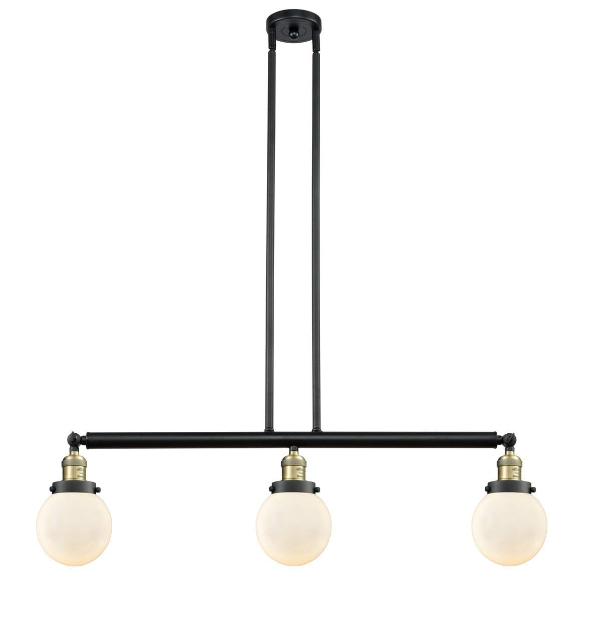 INNOVATIONS LIGHTING 213-BAB-S-G201-6-LED 3 Light Vintage Dimmable LED Beacon 38 inch Island Light