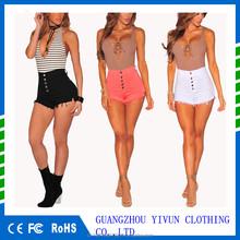 aab318b1ee Yivun más tamaño Denim shorts mujer 2017 casual pantalones vaqueros cortos  de las mujeres atractivas pantalones