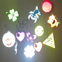 hi vis reflex hangers keychain / glow in the dark owl safety reflectors / reflective safety toys or kids school backpack