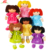 wholesale custom knit rag cotton doll