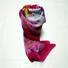 slik shawl scarf in stock lot / square silk scarf / shawl hijab