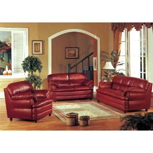 Burgundy Leather Sofa Loveseat Chair Living Room Set - Buy Burgundy Leather  Sofa Loveseat Chair Living Room Set Product on Alibaba.com