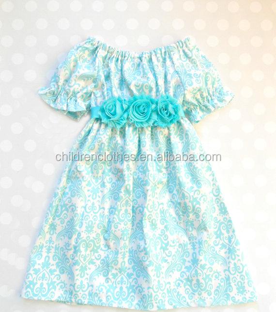 c0d9253670b25 Fashion stylish light green dress short sleeve little girl posh princess  smock baby dresses