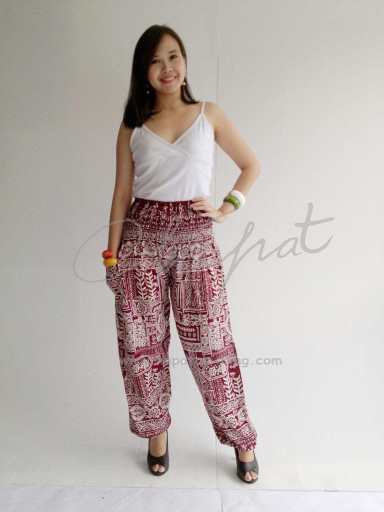 Pantalones De Aladdin Con Cintura Elastica Para Mujer Pantalon De Diseno Informal Estilo Bohemio Harem Tailandesa De Rayon Buy Design Ladies Pants 2013 Ladies Fashion Pants New Style Ladies Pants Product On Alibaba Com