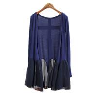 Gray Black Cardigan Women casual Crochet Plus Size Coat Women long thin Sweaters vestidos Summer Cardigans
