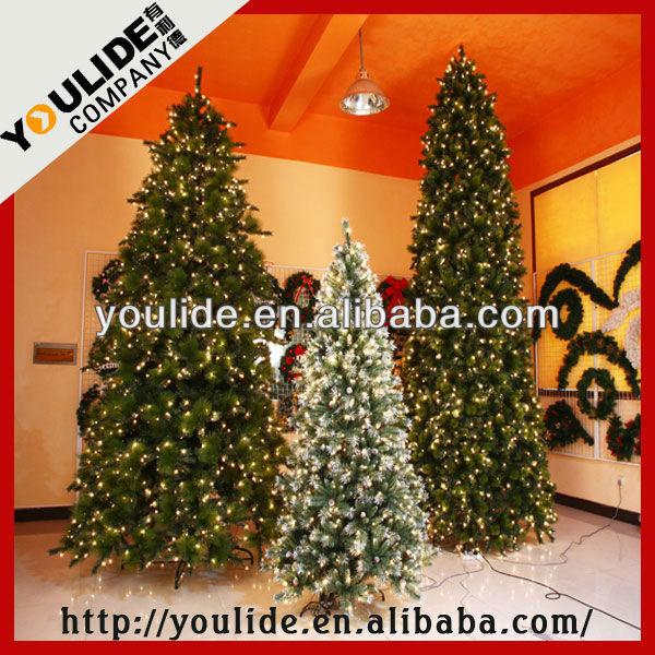 8,9,10,12feet Pvc Sierra Slim Spruce Christmas Tree With Multi ...