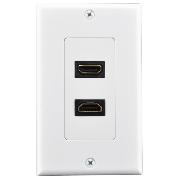 1 gang wall plate Dual HDMI connector US Type plastic hdmi vga wall plate  RJ45 network keystone wall face plate