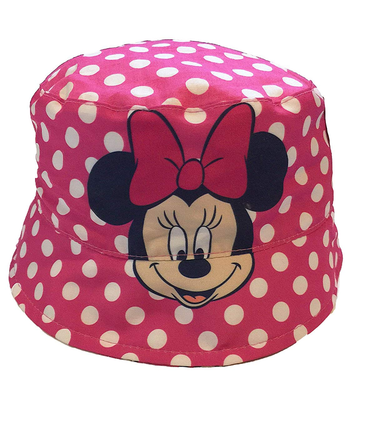 0887a9c4 Get Quotations · Minnie Mouse Baby Girls Toddler Sun Bucket Hat, Reversible,  Pink