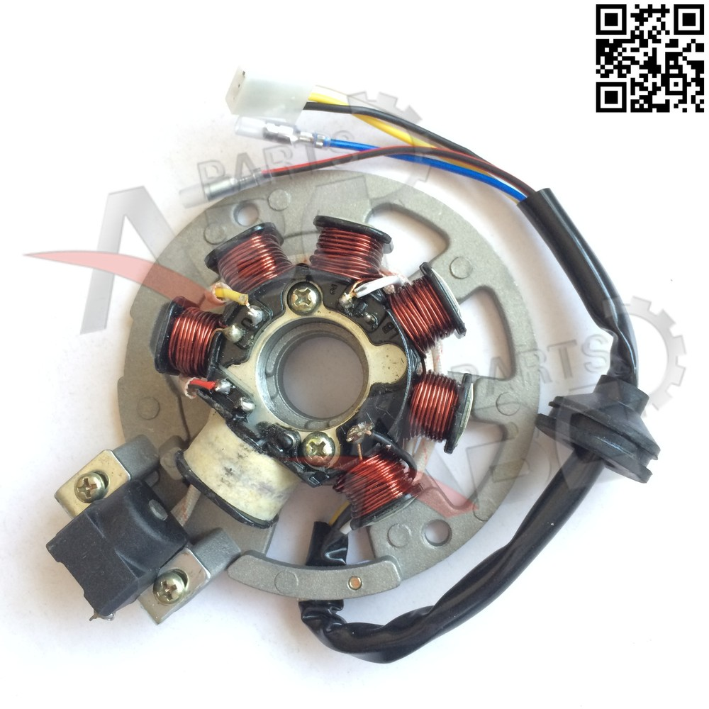yamaha stator wiring 2 stroke scooter stator magneto 5 wire for jog cpi 50cc 90cc  2 stroke scooter stator magneto 5 wire