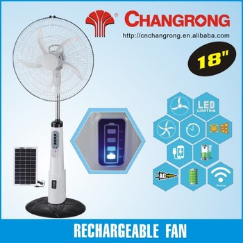 Rechargeable fans electric remote control floor fan standing fan plastic