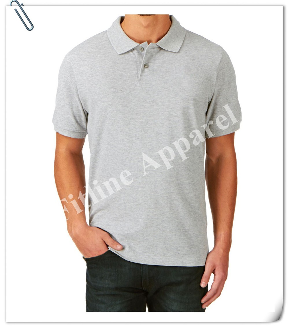 Newest Blank Slim Mens Fit Polo Shirts Muscle Style Polyester