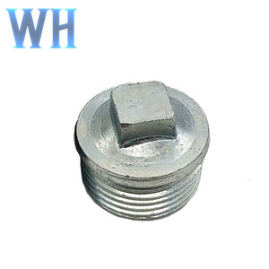 high quality malleable iron pipe fittings plug 1/2''---4''