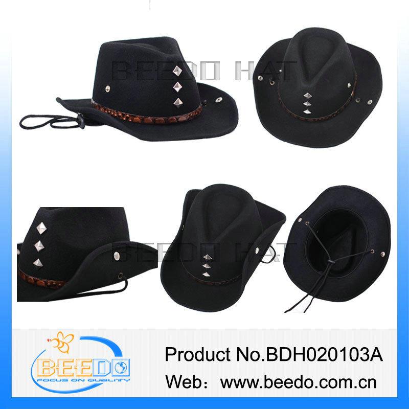 Black Crushable Men Australian Funny Cowboy Hat Sale - Buy Funny ... b869ad52879