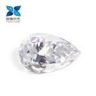 Zhanhao Jewelry VVS white colorless Pear shape 2 carats moissanite for ring jewelry