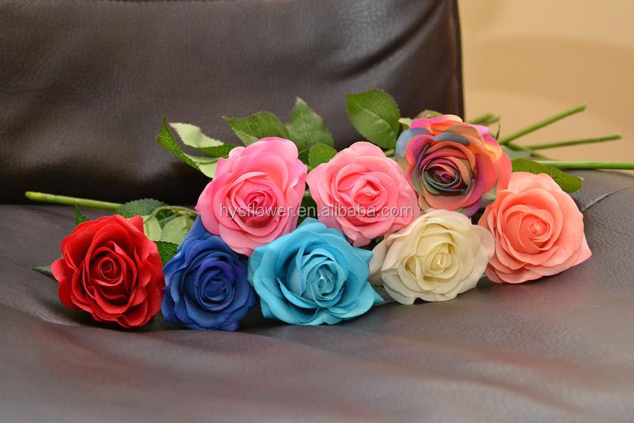 Preserved Real Touch Pink Floral Rose For Wedding Decoration,Real ...