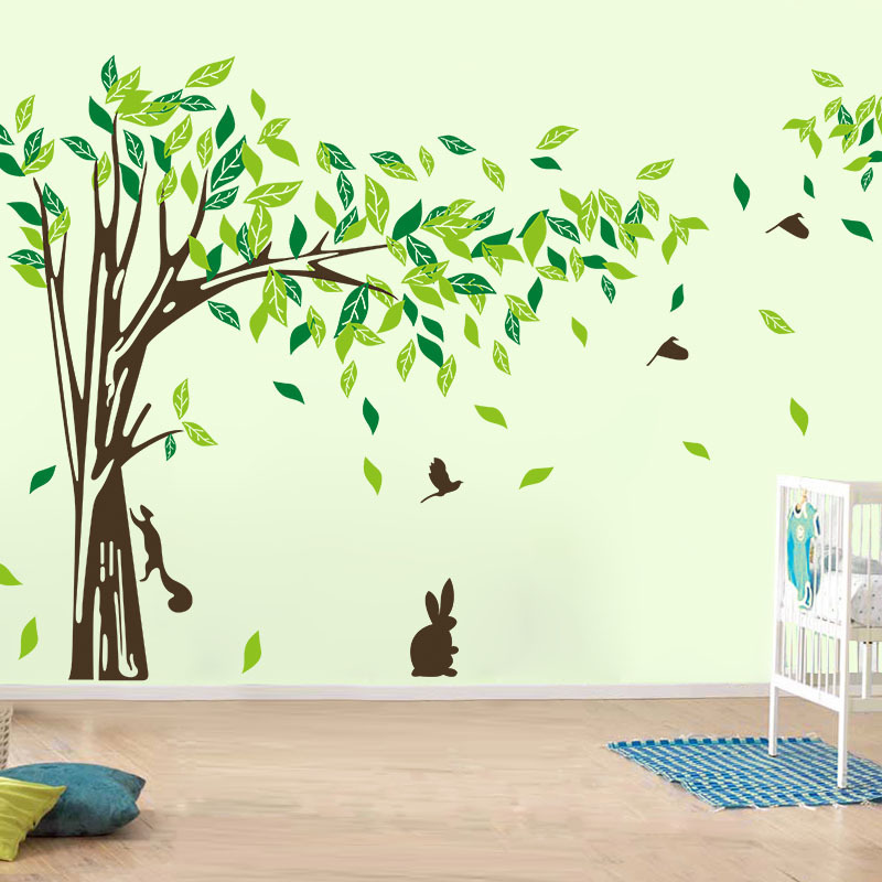 Large Wall Decal Tree Removable Green Wall Decor Living ...