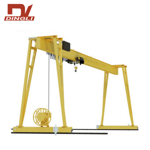 4 Wheels Mini Single Girder Gantry Crane for sale