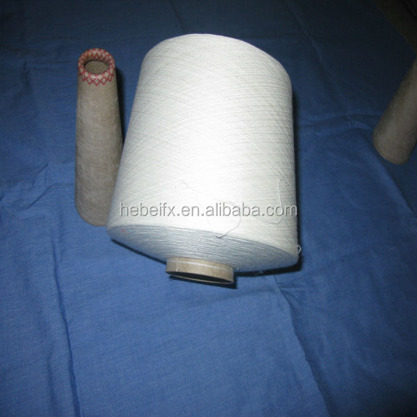 30/1 white 100% viscos polyester core spun yarn