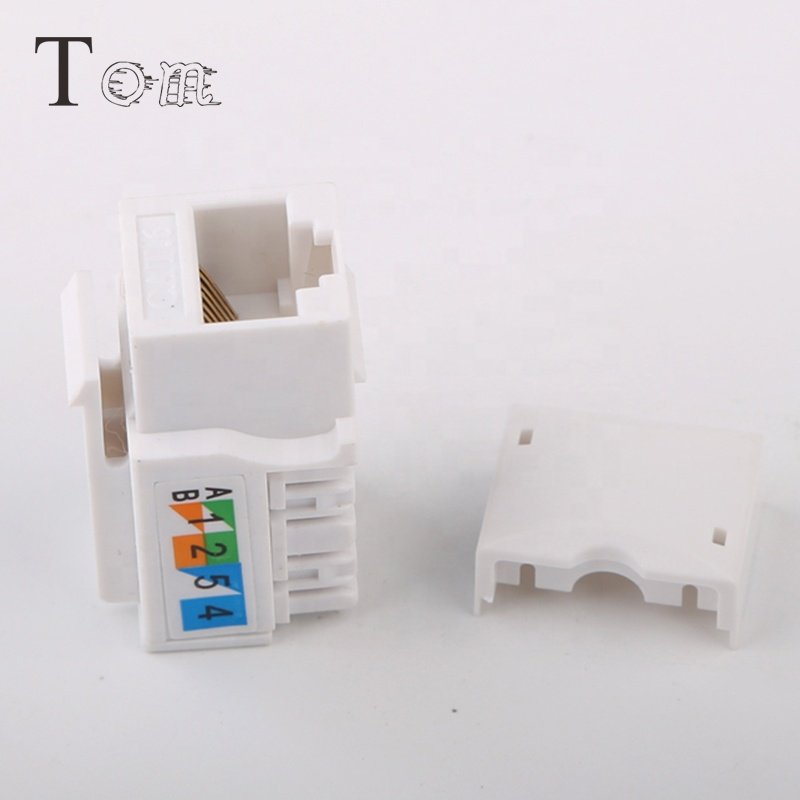 TOM-KJ-2-C6 Cat.6 UTP Network Module RJ45 Keystone Jack Dust Punch Down