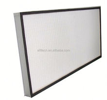 h13 hepa filters h14 glass fiber mini pleated filter media