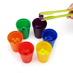 Bear Counters and Dice Math Bears Game Rainbow Counting Bears with Matching Sorting Cups