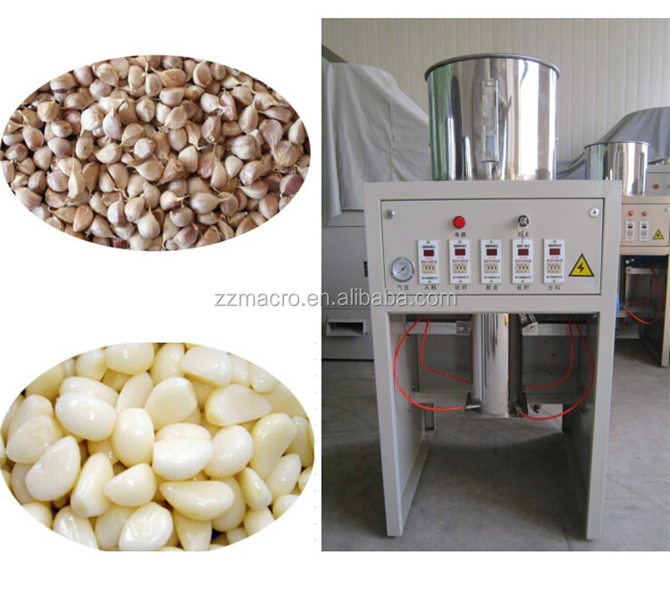 Full-automatic easy operation ginger garlic peeling machine, garlic clove peeler
