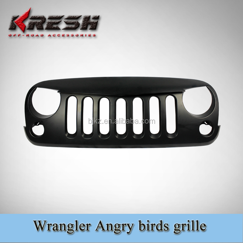 Fast delivery chrome jeep wrangler grille angry birds grille for Jeep wrangler JK