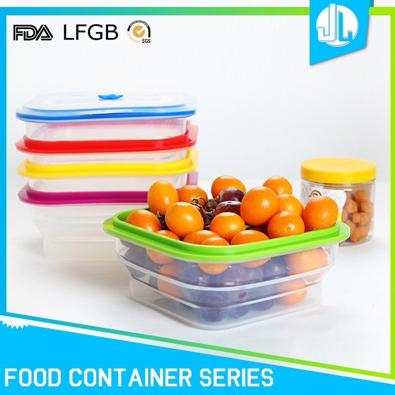Wholesale silicone material eco-friendly container food packaging