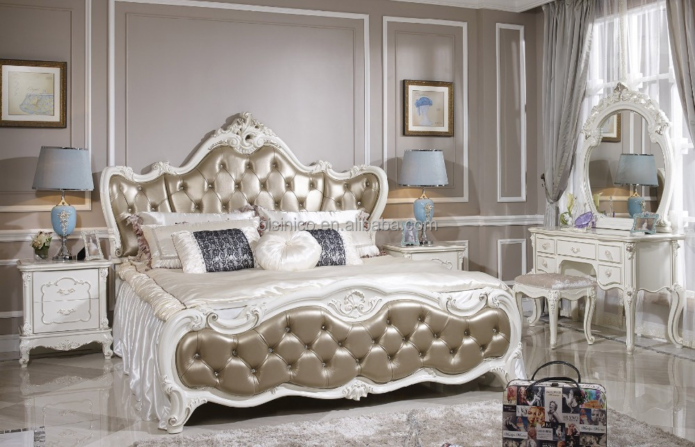 alibaba style fran ais meubles de chambre coucher ensemble italien classique luxe adultes. Black Bedroom Furniture Sets. Home Design Ideas