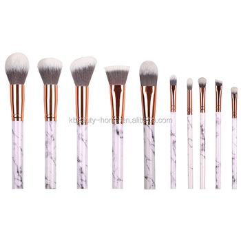 2017 New Design OEM makeup brush set palace marble handle foundation makeup brush for beauty