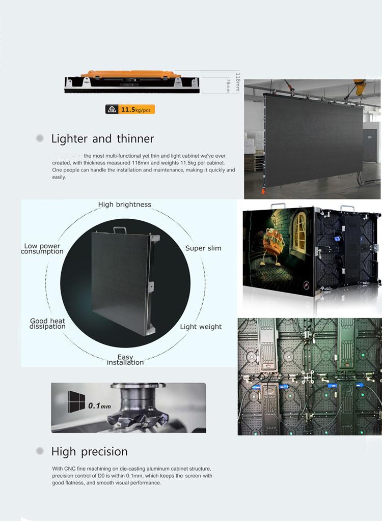 Full HD จอแสดงผล P2 P2.5 P3 P4 ในร่มกลางแจ้ง led