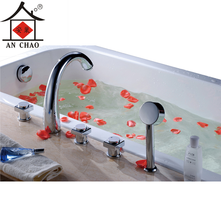Bathtub faucet hot and cold all-copper cylinder Five-piece split leading edge security suite shower nest