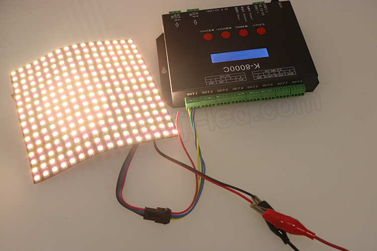 Matrixaddressable rgb dot 5v 76.8w apa102c ws2812b led 8x32 matrix