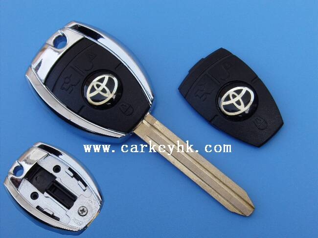 Hot sale Toyota transponder key shell Toy41 right blade with toyota smart key 2 button