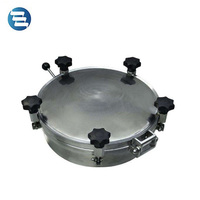 Sanitary Stainless Steel Man Hole 3 Bar Pressure Outward Tank Round Manhole Cover