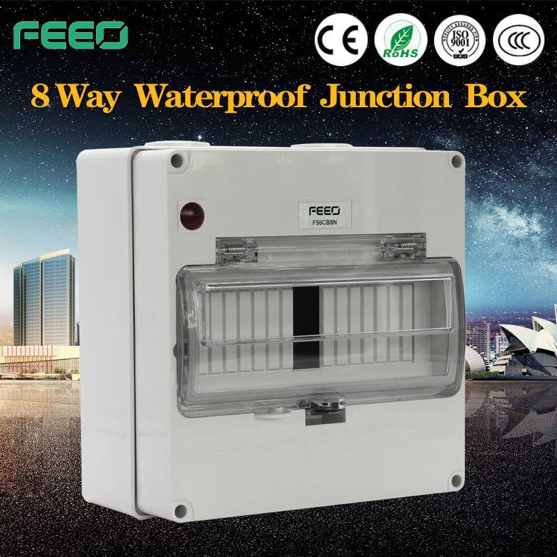 CE IP66 waterproof plastic sealed enclosure case transparent cover electrical junction box Made in China