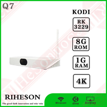 Hot selling RK3229 4k international smart tv box 1g 8g real player tv box