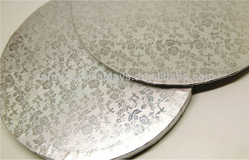 Paper Cake Board/ Cake Drums -- 14inch Silver cake board