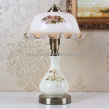 Simple Style Ceramic Table Lamp With Dimmable Switch