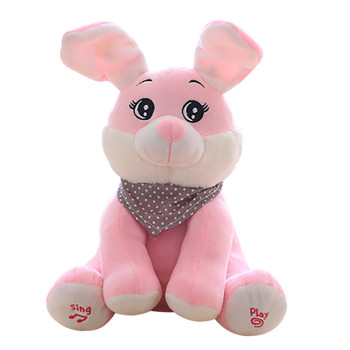 fe352442ab3e Funny Stuffed Toys Soft Dolls Kid Gift Baby Peek-a-boo Rabbit Plush Toy