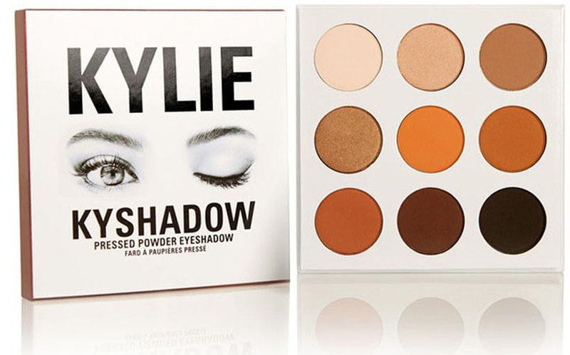 2016 Kyshadow kylie Jenner kit pressed powder eye shadow Kylie Cosmetics Eyeshadow the Bronze Palette 9 colors